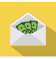 Money in an envelope vector image
