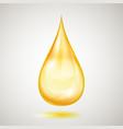 one big yellow drop vector image vector image