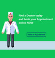online medicine doctor s appointment web banner vector image