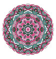 oriental ornament relaxing doodle drawing round vector image vector image
