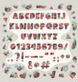 papercut colorful alphabet vector image vector image