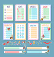 planner template set vector image vector image