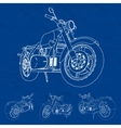 Road bike Motorcycle in the contour lines vector image vector image