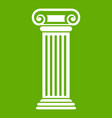 roman column icon green vector image vector image