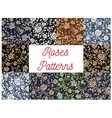 Roses seamless pattern backgrounds vector image