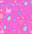 seamless pattern of easter symbols vector image vector image
