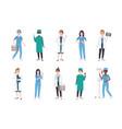 set of female medical workers bundle of women vector image vector image