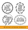 set of handwritten autumn season inscriptions with vector image