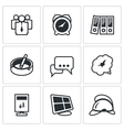 Set of Office Fire Alarm Icons Team Time vector image vector image