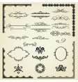 set vintage elements vector image vector image