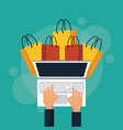 shopping online discount vector image