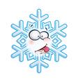 Snowflake Head Tongue vector image vector image