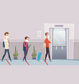 social distancing in public place self protection vector image vector image