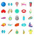 sport life icons set cartoon style vector image
