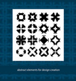 stylish creative geometric signs abstract vector image vector image