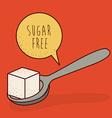sugar free product vector image