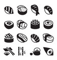 sushi icons vector image vector image