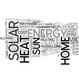 where to find solar energy text word cloud concept vector image vector image