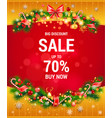 winter christmas sale vector image vector image