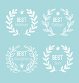 wreath label set vector image vector image
