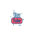 youtube icon design vector image