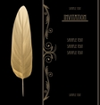 Black and gold vintage invitation card graphic vector image