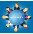 community people around the globe business vector image