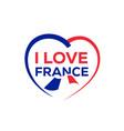 i love france vector image