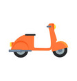 icon of motor scooter vector image