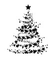 abstract a christmas tree vector image vector image