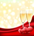 abstract background with wineglasses champagne vector image vector image