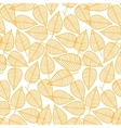 Autumn pattern from leaves vector image vector image