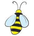 backward facing honeybee or color vector image vector image
