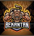 bekantan esport mascot logo design vector image vector image