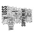 best weight loss supplement text background word vector image vector image