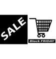 black friday sale banner poster layout design vector image