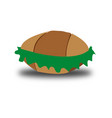 bread and vegetable vector image