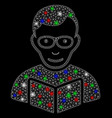 bright mesh 2d reader with light spots vector image vector image