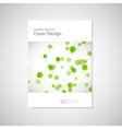 Brochure cover template for connect network vector image vector image