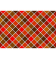 Brown red diagonal check seamless pattern vector image vector image