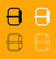 buckle set black and white icon vector image vector image