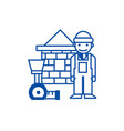 builderbrick housemeter line icon concept vector image vector image
