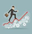 businessman gentleman adult goes success vector image