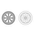 car wheel it is black icon vector image vector image