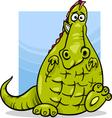 cartoon dragon funny fantasy character vector image vector image