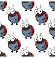 Cartoon ladybugs seamless pattern background vector image
