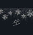 christmas new year background with silver snowflak vector image vector image
