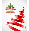 Christmas tree from ribbon vector image vector image