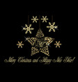 christmas tree gold flake ornament vector image