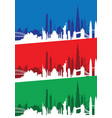 cityscape set vector image vector image